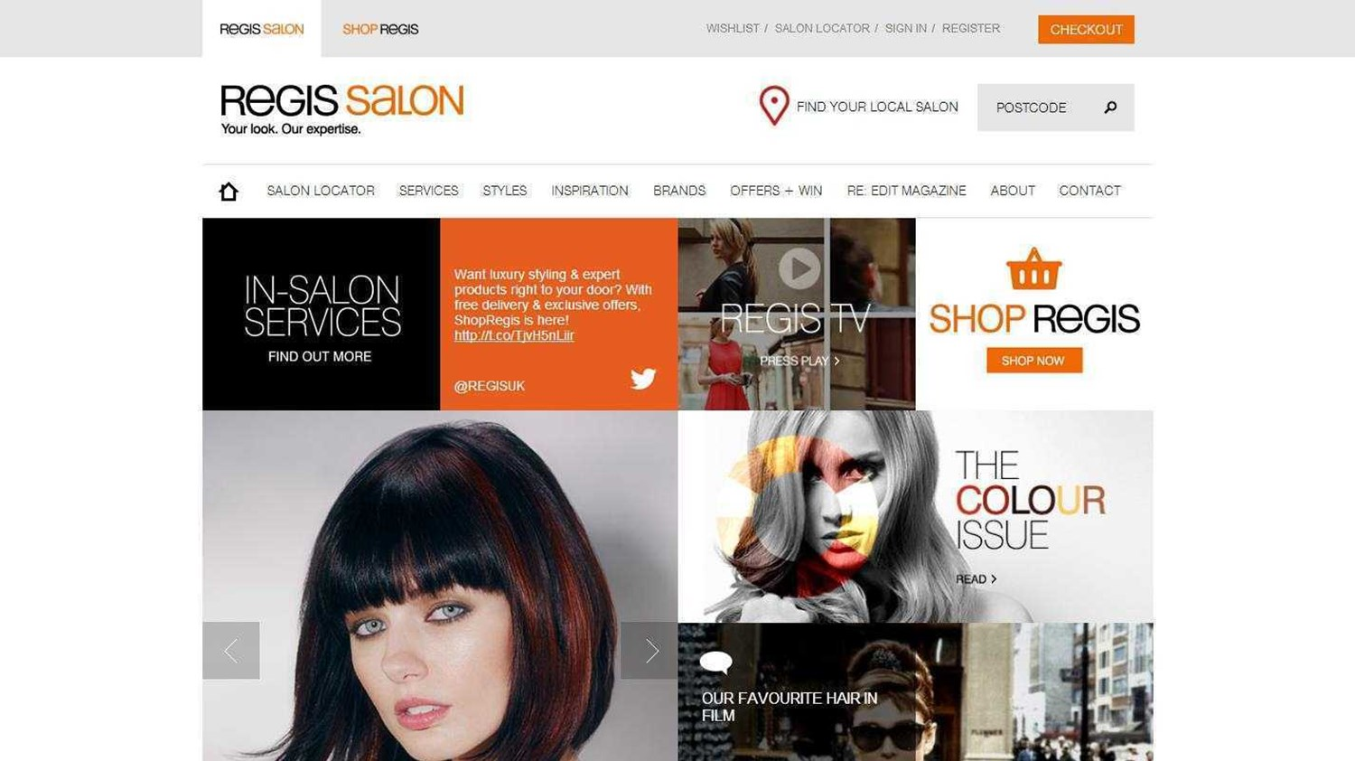 Regis Salons Website 2014
