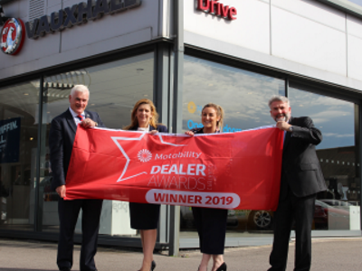 Drive Vauxhall Hartlepool Celebrates Motability Award Win
