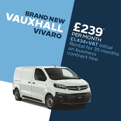 Brand New Vauxhall Van Offer - Vivaro