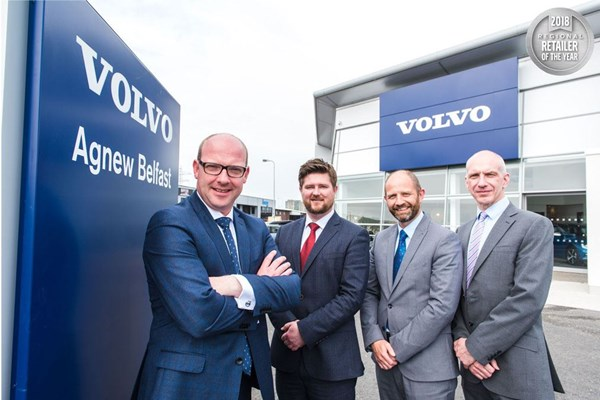 Agnew Belfast crowned best Volvo dealer in its region