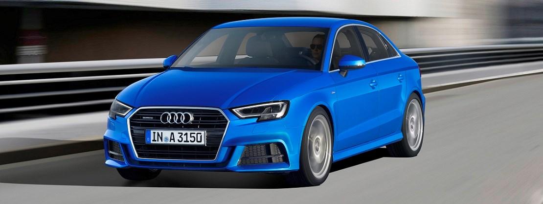 Audi A3 Saloon in Ara Blue