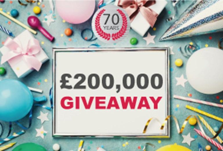 £200,000 Birthday Offer
