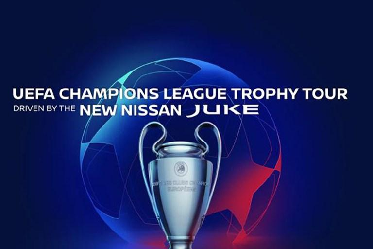 Next Generation Nissan Juke Drives the 2019/20 Uefa Champions League Trophy Tour