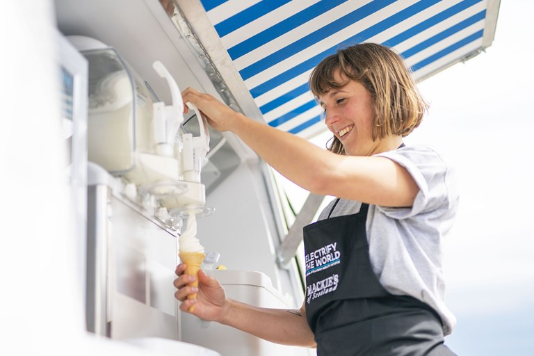 A double scoop for Nissan's all-electric ice cream van campaign at the PRCA National Awards