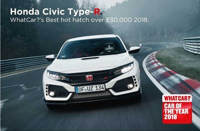 Civic Type-R wins What Car?'s best hot hatch over £30,000 2018