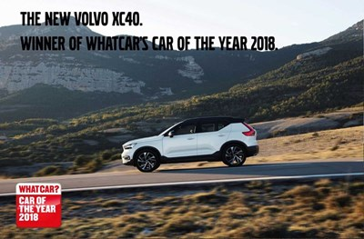 The XC40 wins What Car? car of the year 2018.