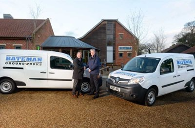 Bateman Groundworks invests into new fleet of 45 Renault Kangoo vans with Holden Renault