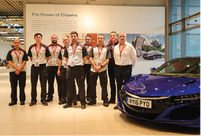 UK Technicians perform admirably in Honda European Skills Contest finals