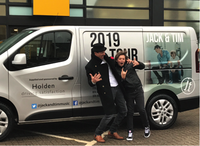 BGT stars Jack and Tim on tour thanks to Holden Group!