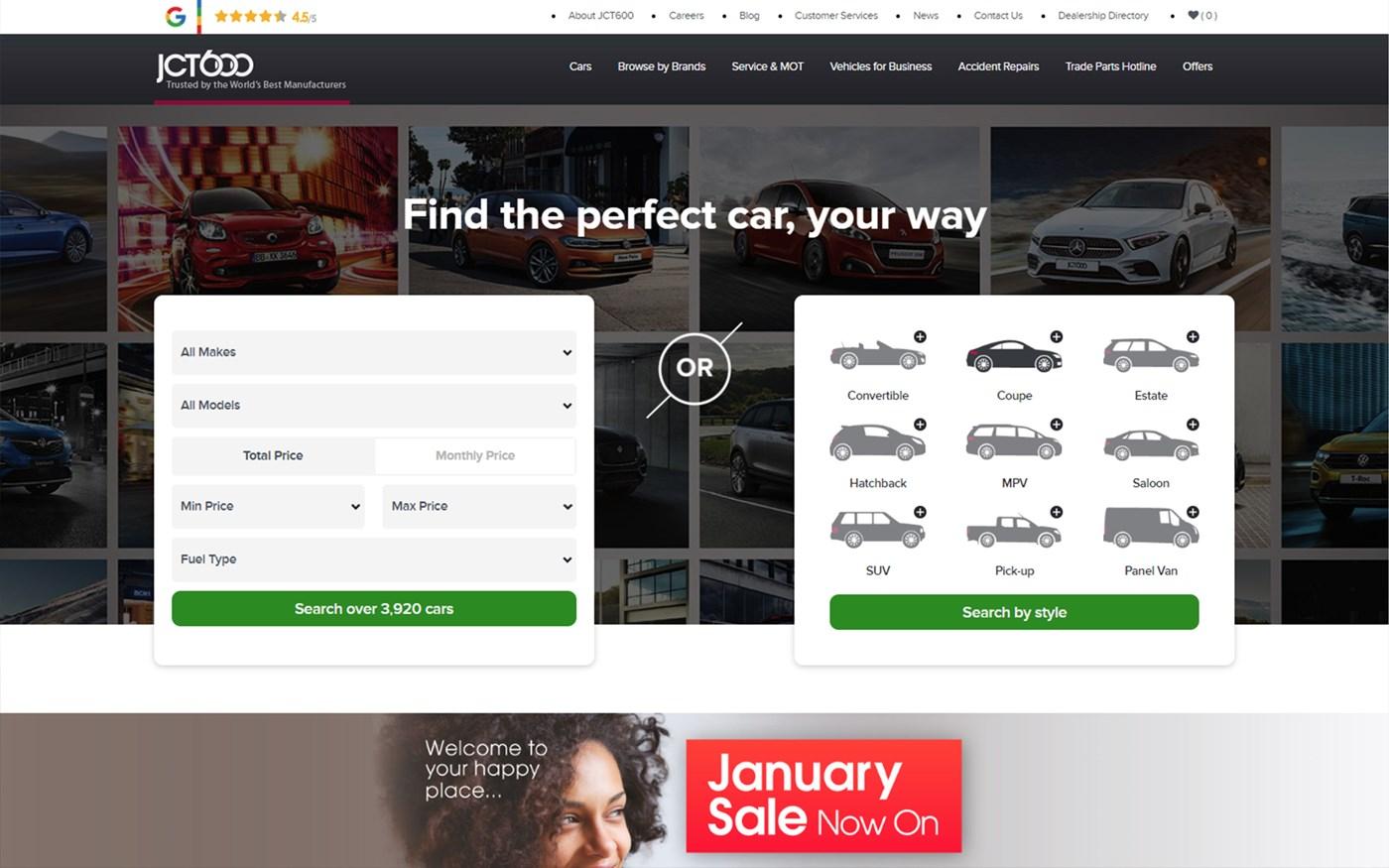 JCT600 website homepage