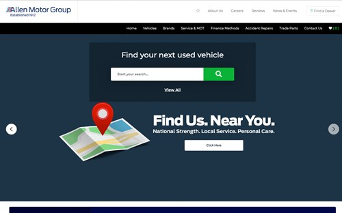 Allen Motor Group website screenshot