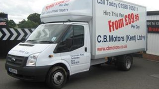 Transit Luton Extended Body with Tail Lift