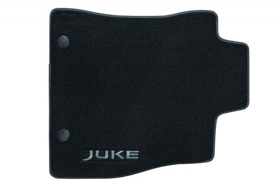 NISSAN JUKE MATS, LUXURY VELOUR WITH GREY OR RED JUKE WORD MARK (X4)