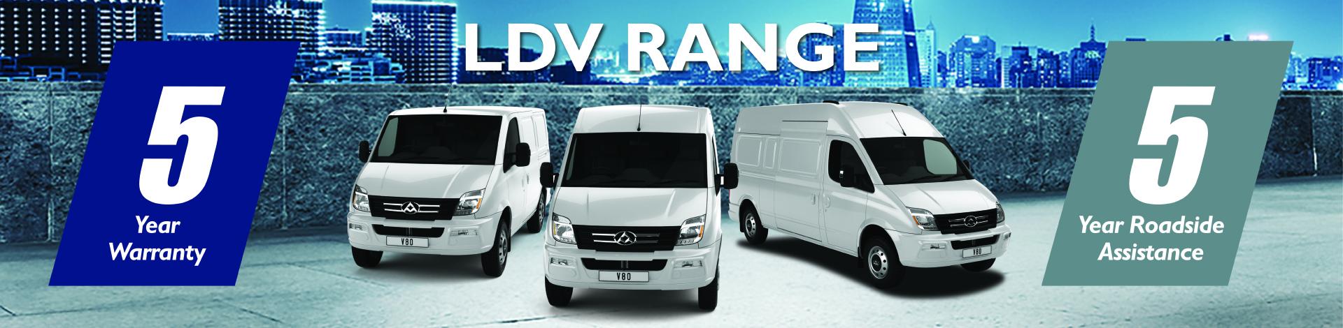 Five-year warranty as standard across the latest LDV range